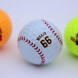 에어원)미라주골프공(4구)/야구공골프공/캐릭터골프공/고반발 티타늄 2중코팅